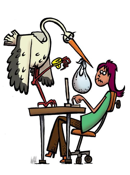 waa - maternity leave illustration